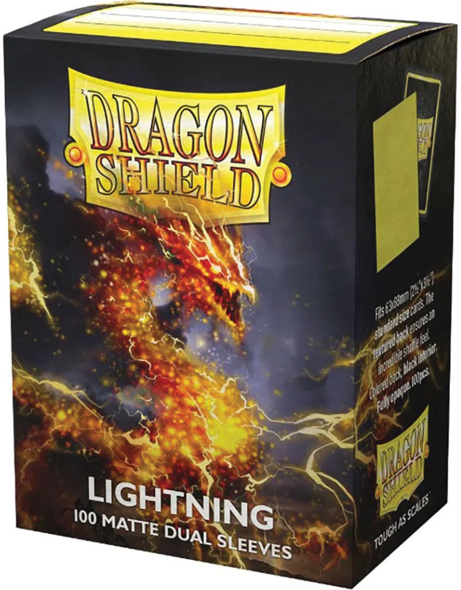 Arcane Tinmen Dragon Shields: (100) Matte Dual - Lightning
