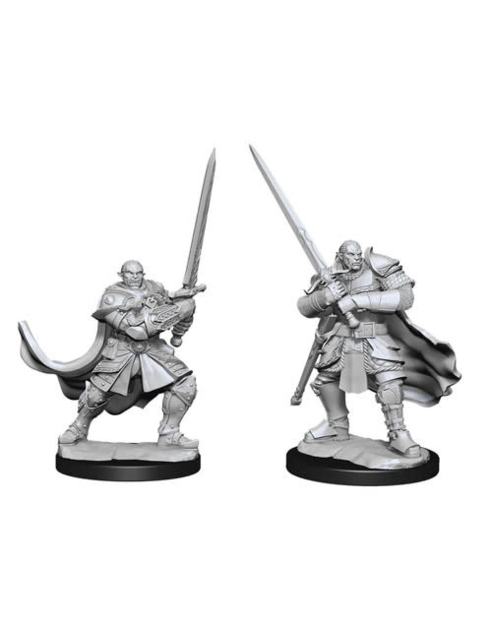 WizKids Dungeons & Dragons Nolzur`s Marvelous Unpainted Miniatures: W15 Half-Orc Paladin Male