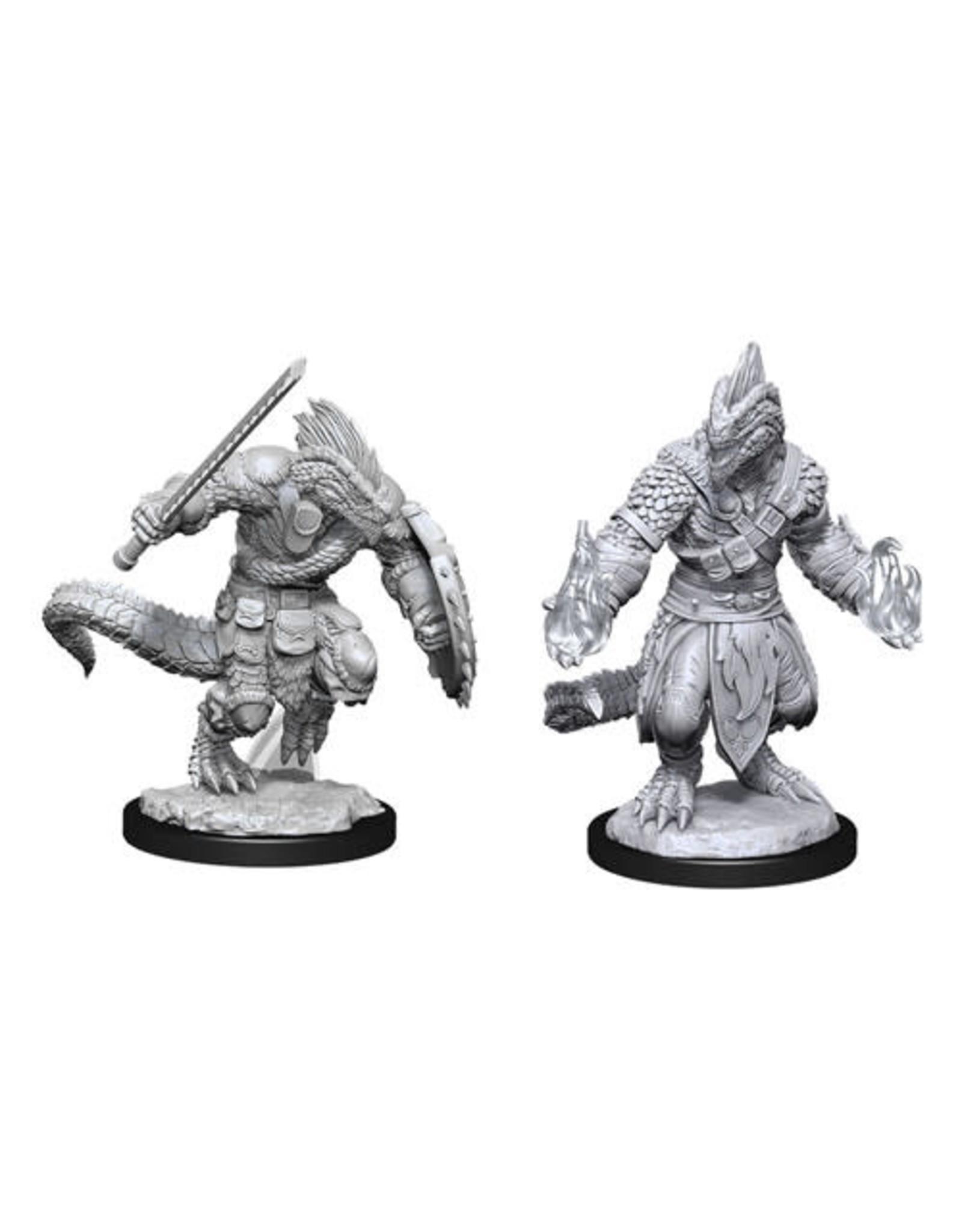 WizKids Dungeons & Dragons Nolzur`s Marvelous Unpainted Miniatures: W15 Lizardfolk Barbarian & Lizardfolk Cleric
