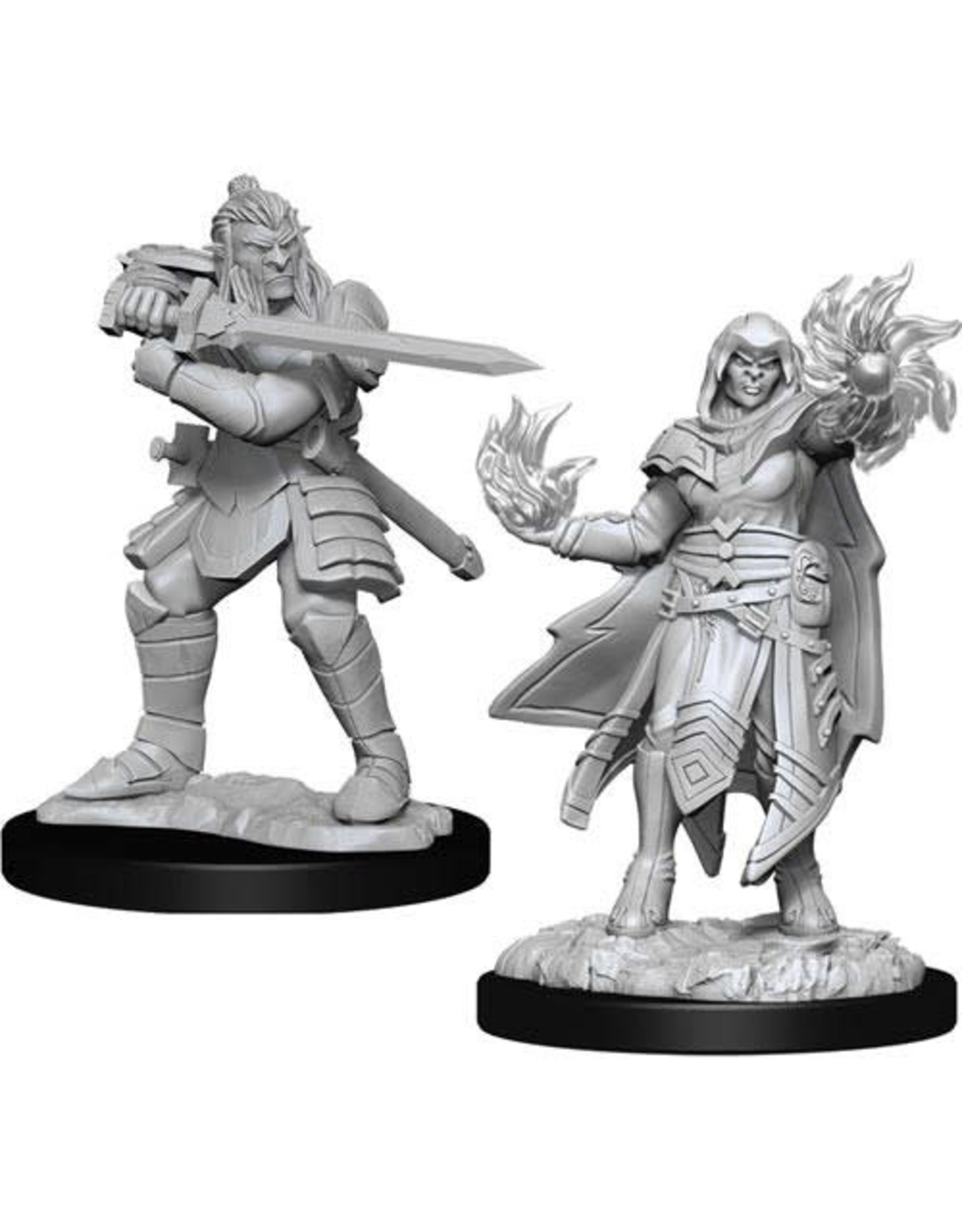 WizKids Dungeons & Dragons Nolzur`s Marvelous Unpainted Miniatures: W15 Hobgoblin Fighter Male & Hobgoblin Wizard Female