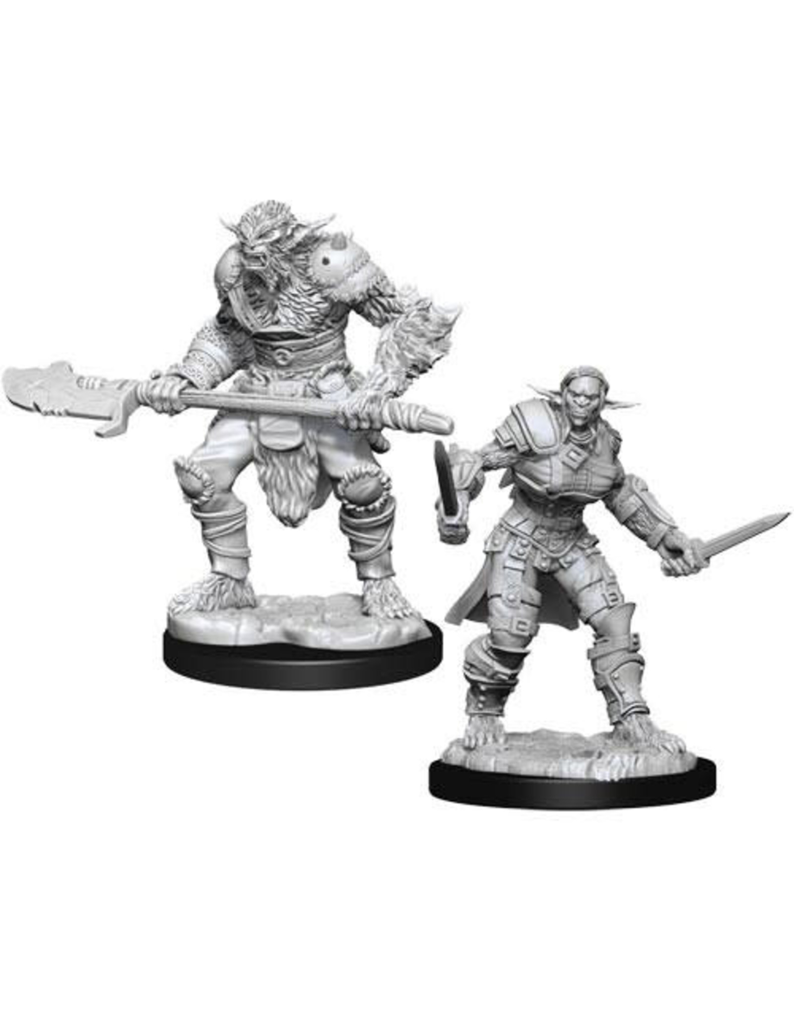 WizKids Dungeons & Dragons Nolzur`s Marvelous Unpainted Miniatures: W15 Bugbear Barbarian Male & Bugbear Rogue Female
