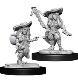 WizKids Pathfinder Deep Cuts Unpainted Miniatures: W15 Gnome Bard Female