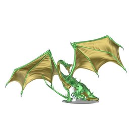 WizKids Dungeons & Dragons Fantasy Miniatures: Icons of the Realms - Adult Emerald Dragon Premium Figure
