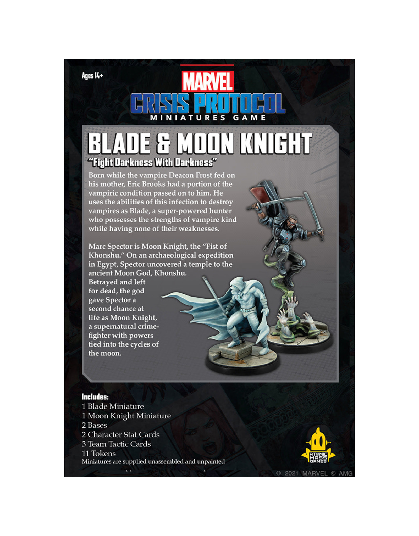 Atomic Mass Games MARVEL CRISIS PROTOCOL: BLADE AND MOON KNIGHT
