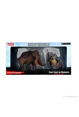 WizKids Dungeons & Dragons Fantasy Miniatures: Icons of the Realms Set 19 Snowbound Frost Giant and Mammoth Premium Set