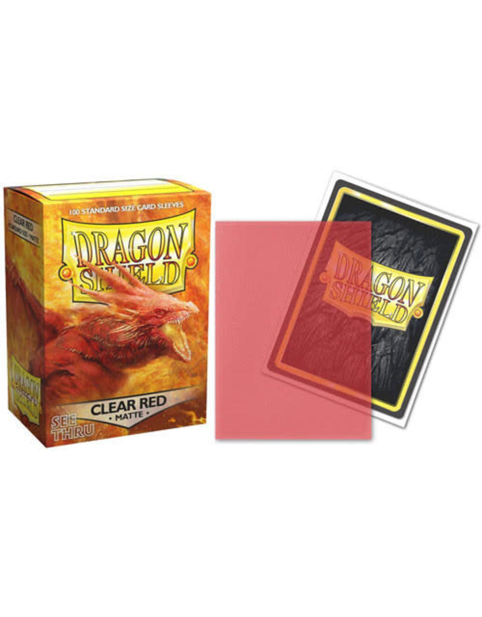 Arcane Tinmen Dragon Shield: (100) Matte Clear Red