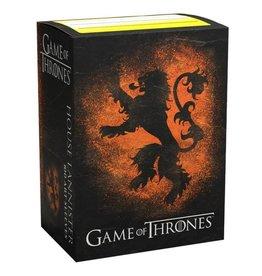 Arcane Tinmen Dragon Shields: Art: Brushed: GoT: Lannister (100)