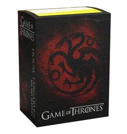 Arcane Tinmen Dragon Shields: Art: Brushed: GoT: Targaryen (100)