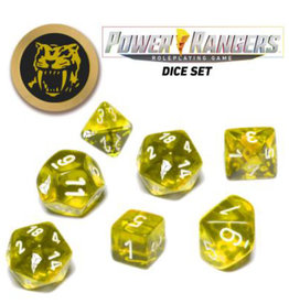 Renegade Game Studios Power Rangers RPG: Game Dice Set - Yellow (7+coin)