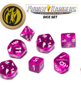 Renegade Game Studios Power Rangers RPG: Game Dice Set - Pink (7+coin)