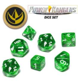 Renegade Game Studios Power Rangers RPG: Game Dice Set - Green (7+coin)
