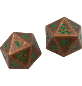 Ultra Pro Dungeons & Dragons RPG: Heavy Metal Copper and Green D20 Dice Set