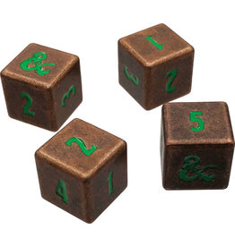 Ultra Pro Dungeons & Dragons RPG: Heavy Metal Copper and Green D6 Dice Set
