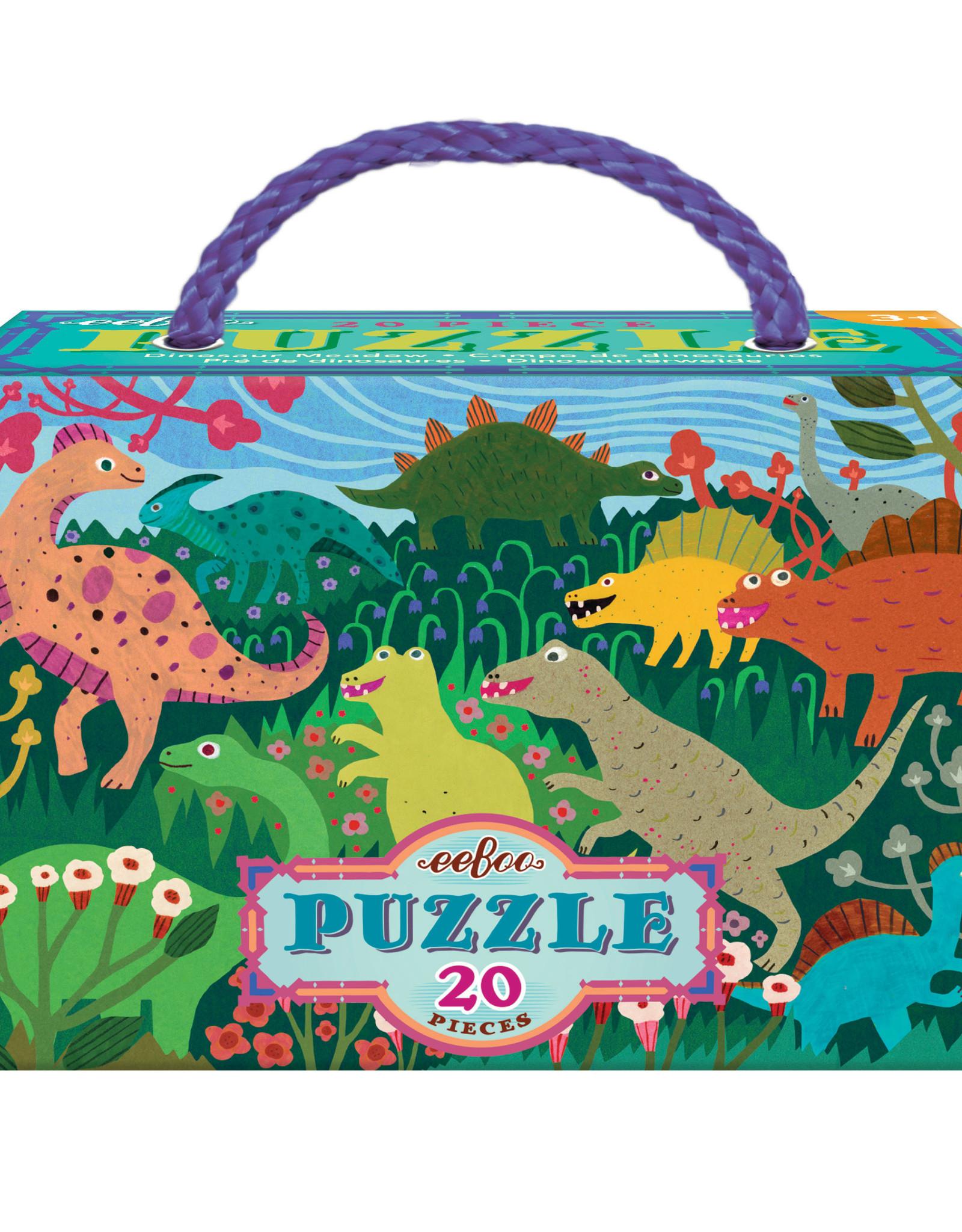 Eeboo 20pc Puzzle Dinosaur Meadow