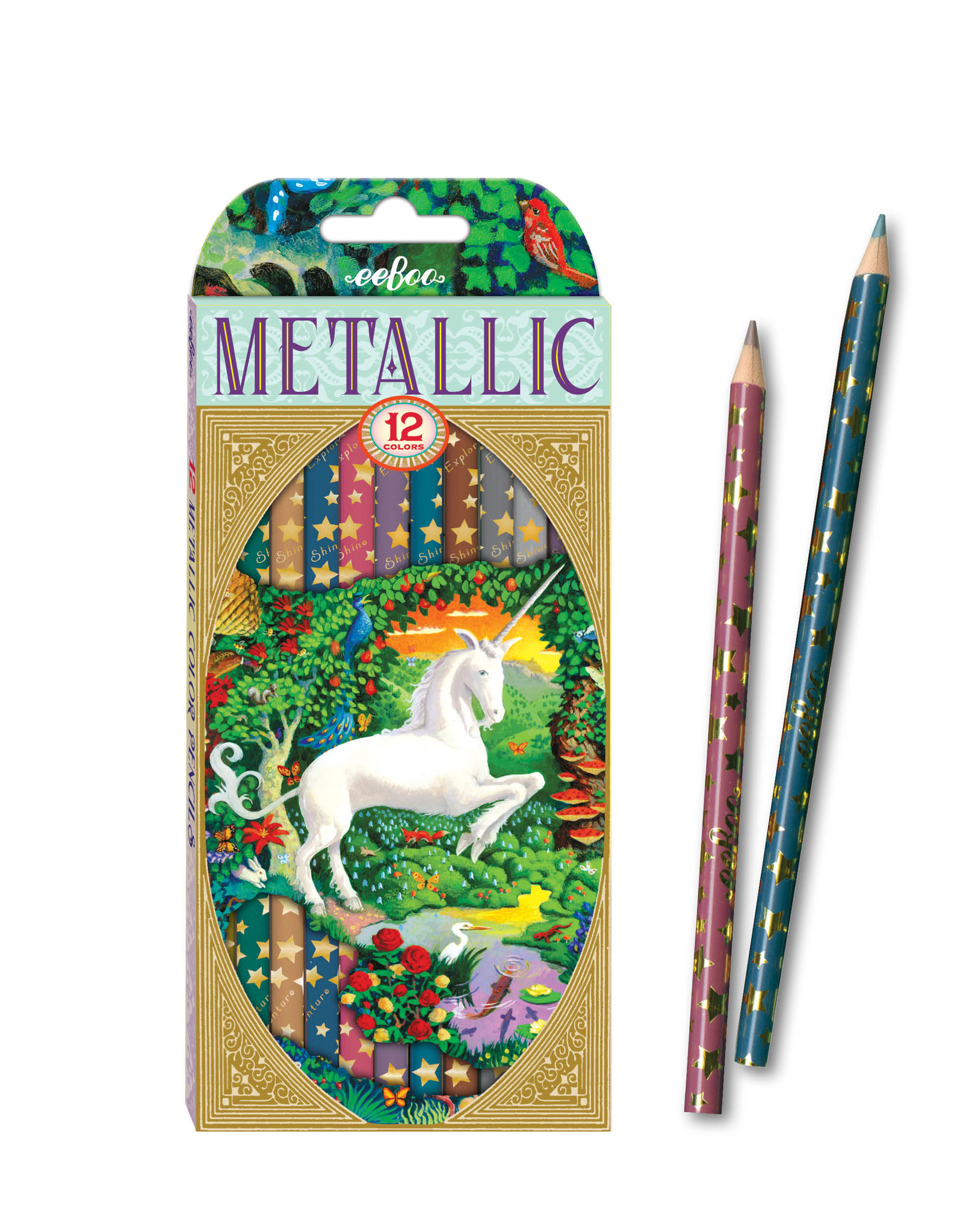 Eeboo Unicorn Metallic Colored Pencils