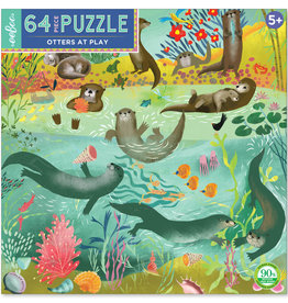 Eeboo 64pc Otters at Play Puzzle