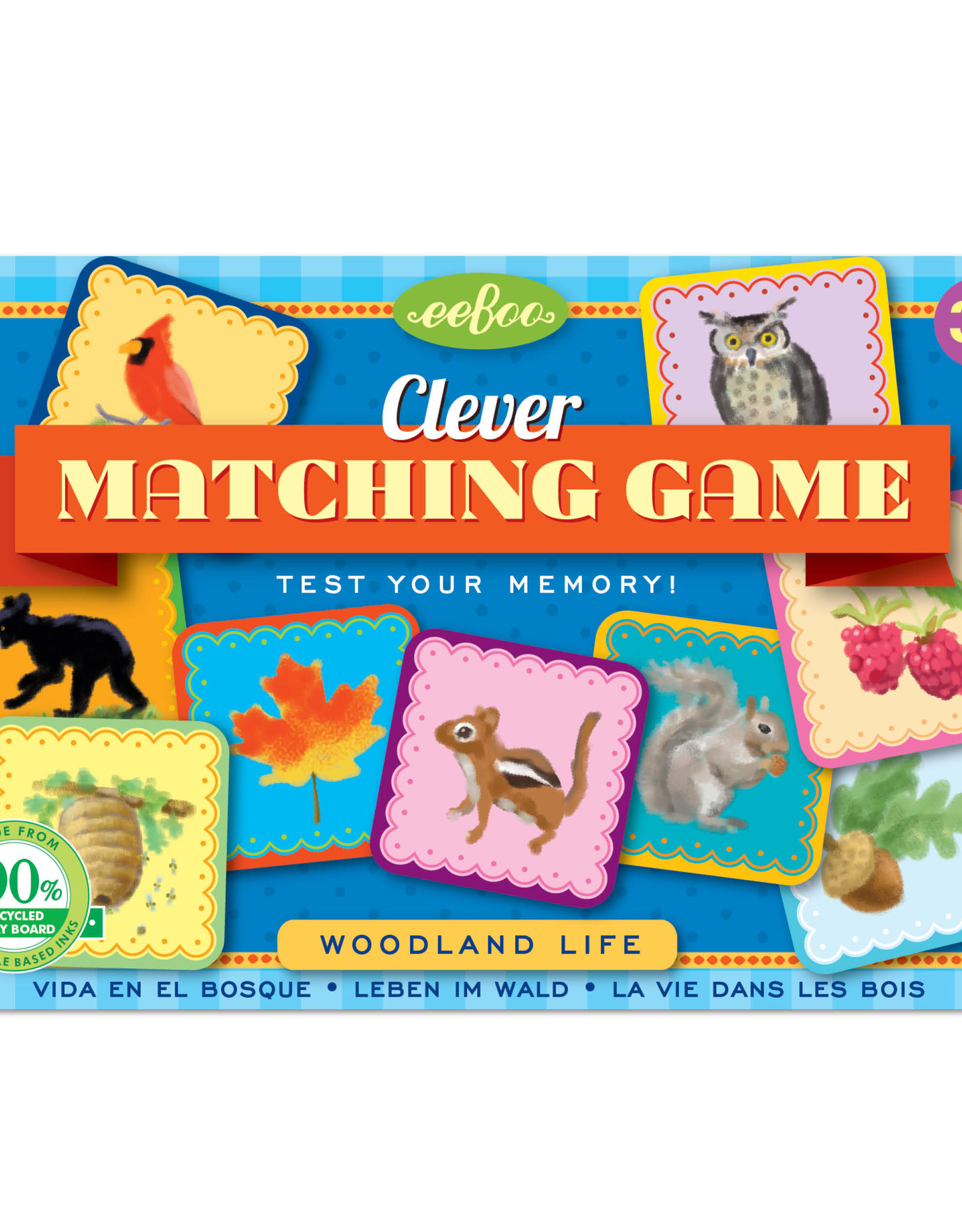 Eeboo Woodland Life Clever Matching Game