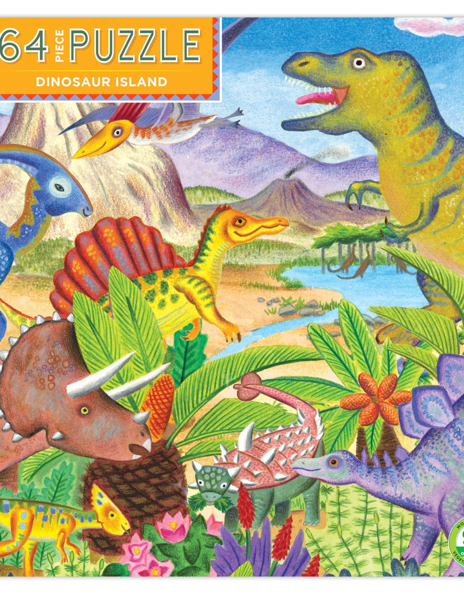 Eeboo 64pc Dinosaur Island