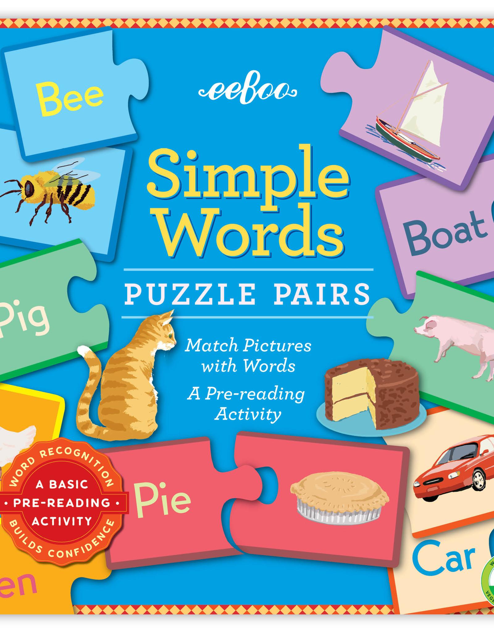 Eeboo Simple Words Puzzle Pairs