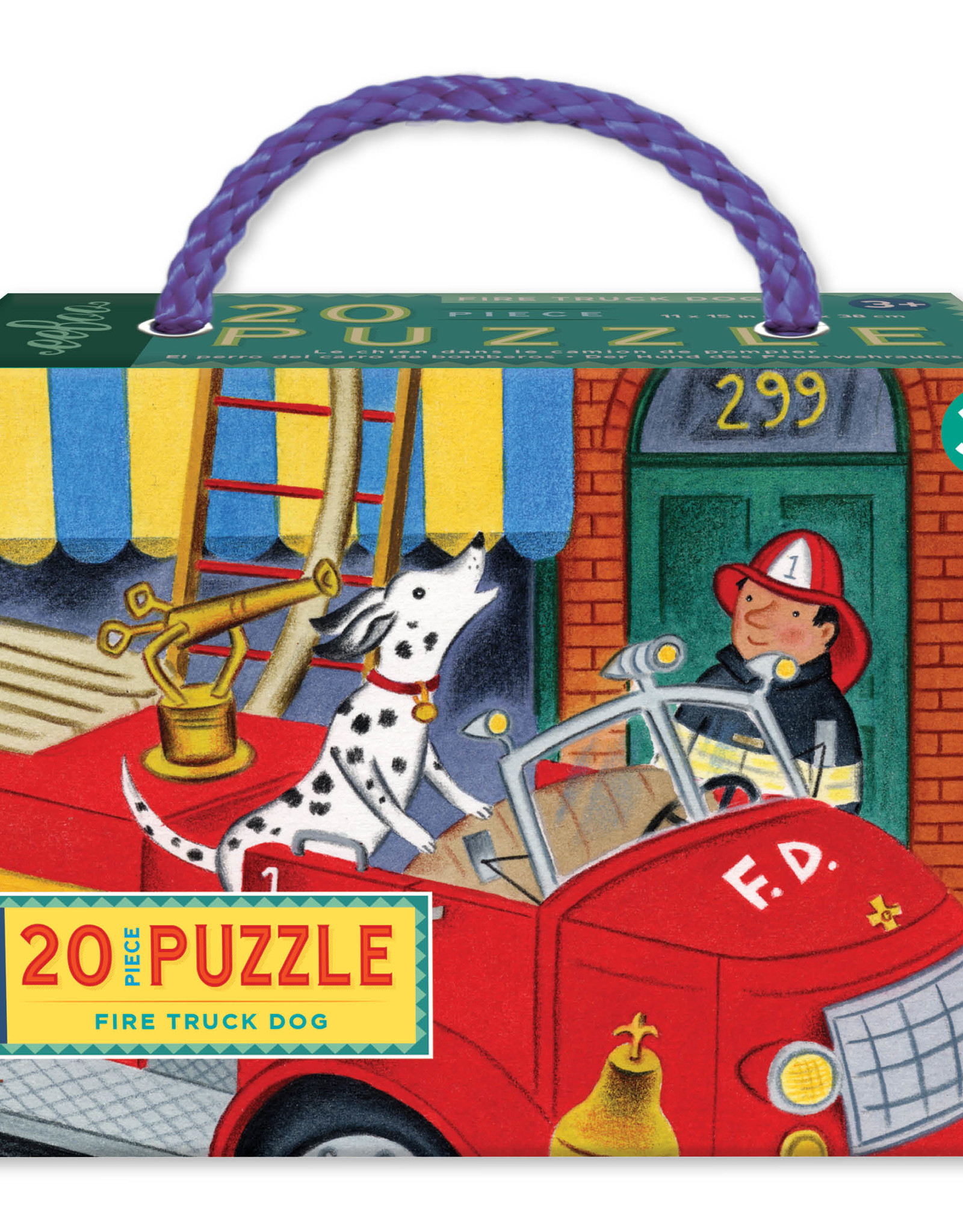 Eeboo 20pc Fire Truck Dog Puzzle