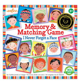 Eeboo I Never Forget a Face Matching & Memory Game