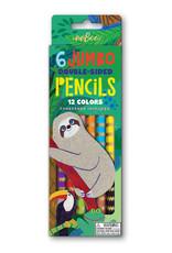 Eeboo Sloth 6 Jumbo Double Pencils