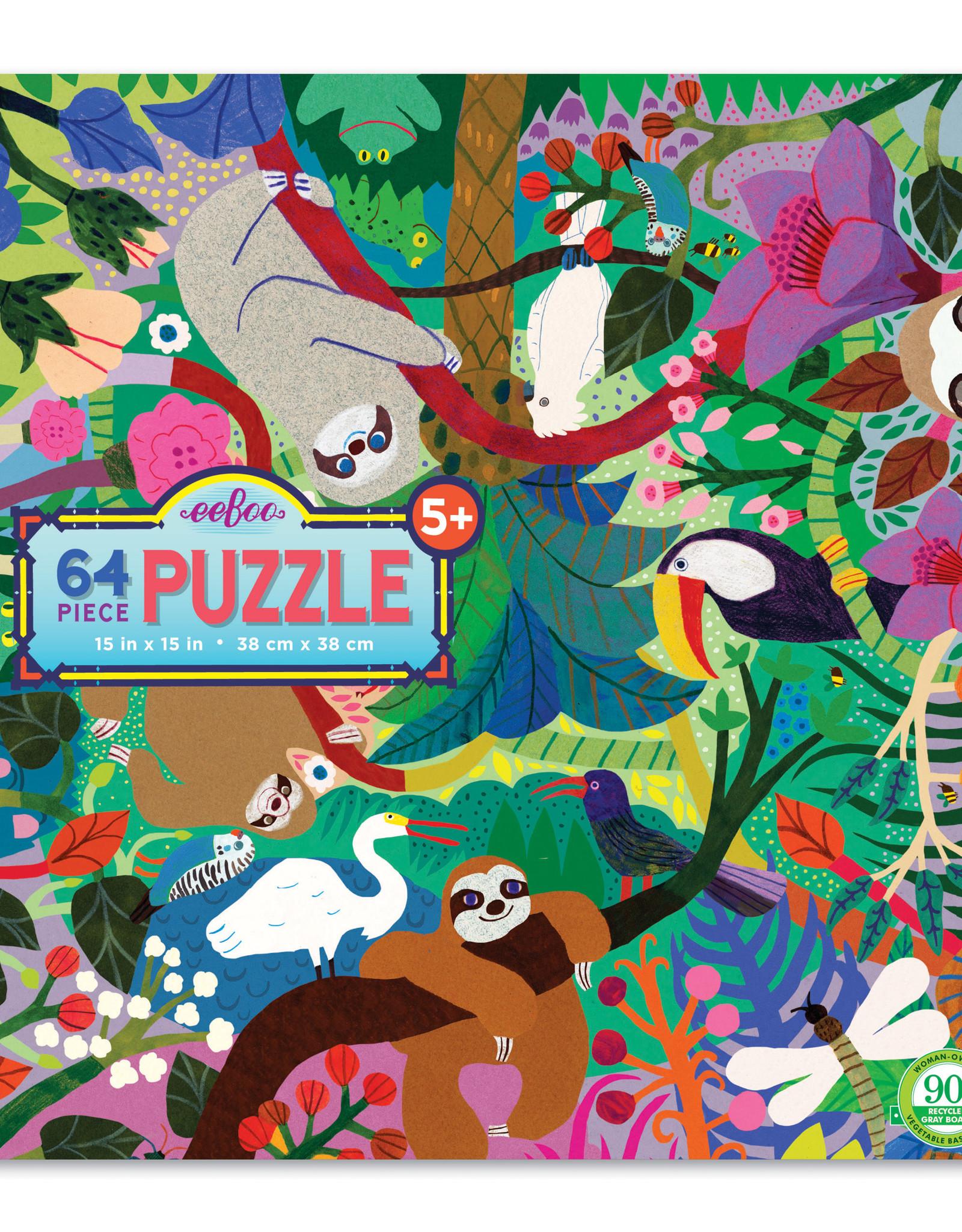 Eeboo 64pc Puzzle Sloths at Play