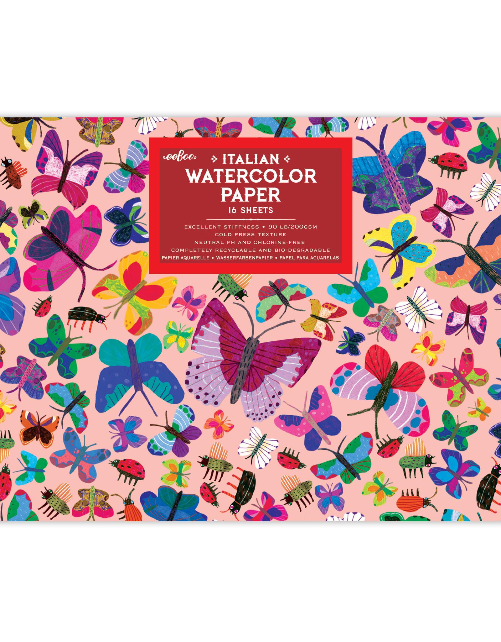 Eeboo Butterflies Watercolor Pad