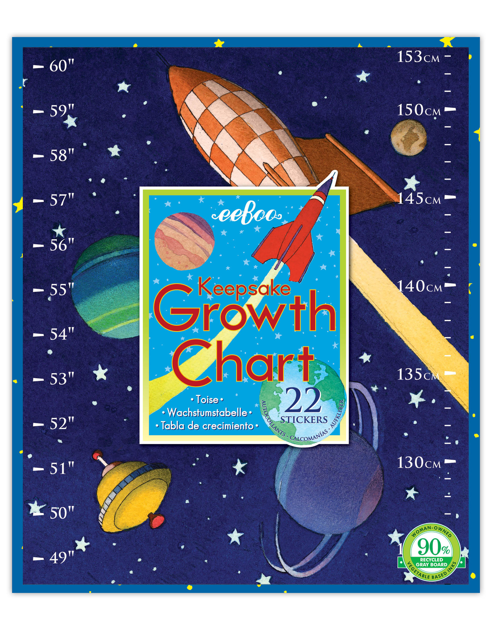 Eeboo Outer Space Growth Chart