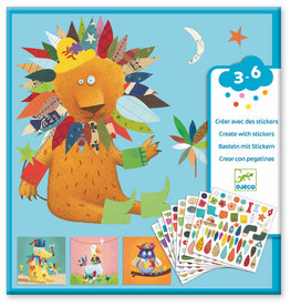 Djeco Petit Gifts - Sticker Kits Create Animals