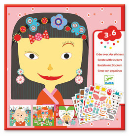 Djeco Petit Gifts - Sticker Kits Make-A-Face