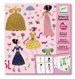 Djeco Petit Gifts - Stickers Dresses Through The Seasons