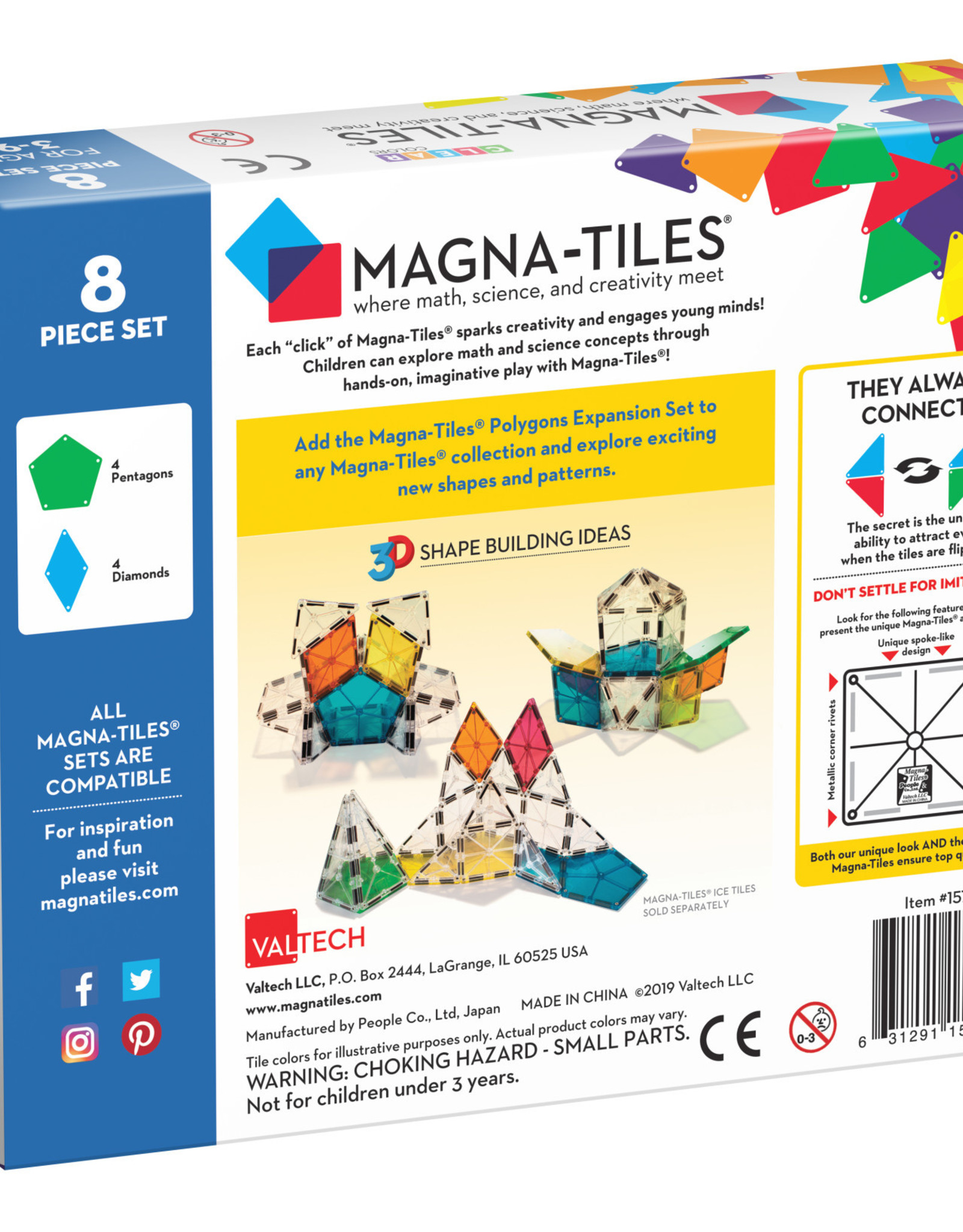 Magna-Tiles Magnatiles Polygons 8Piece Expansion