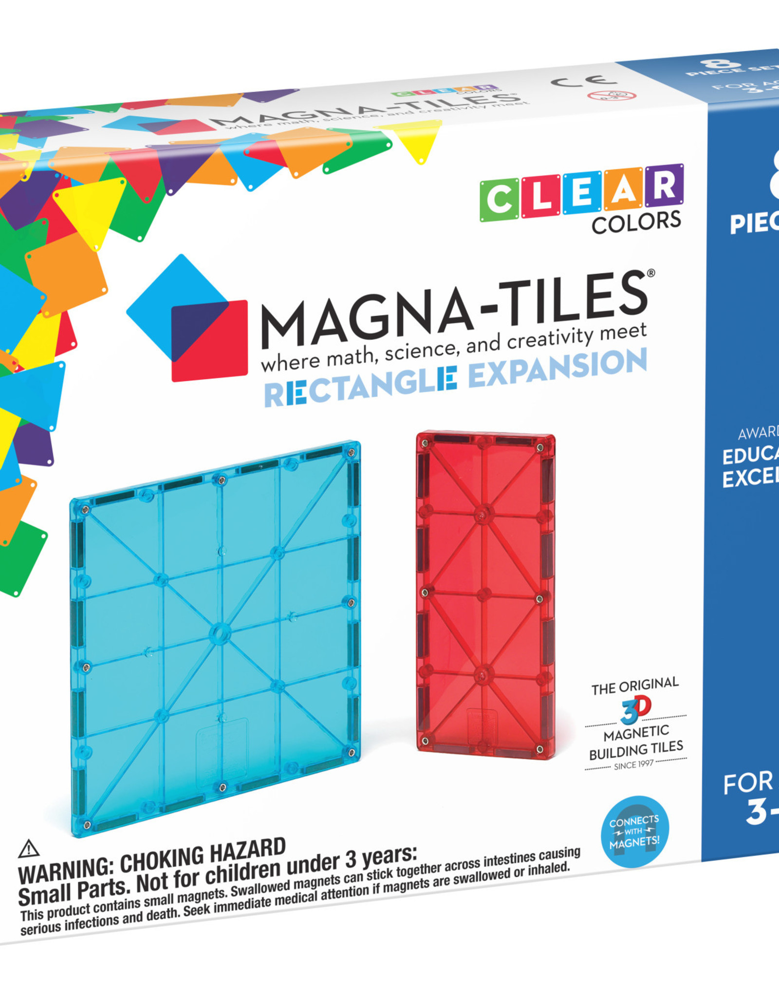 Magna-Tiles Magnatiles Rectangles 8 Piece Expansion