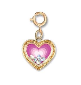 Charm It! Charm It! Gold Heart Shaker Charm