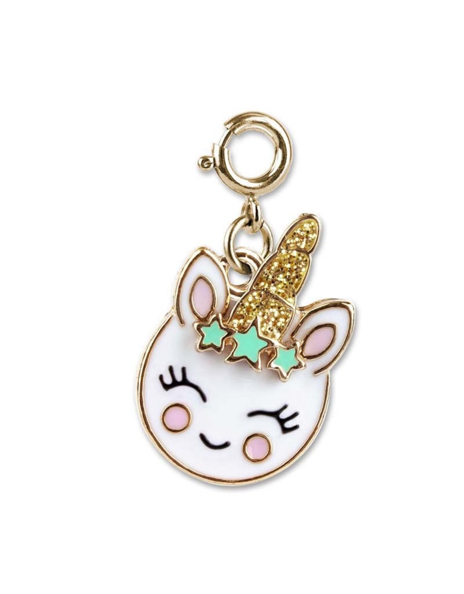 Charm It! Charm It! Gold Smiley Unicorn