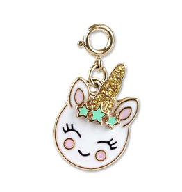 Charm It! Charm It! Gold Smiley Unicorn