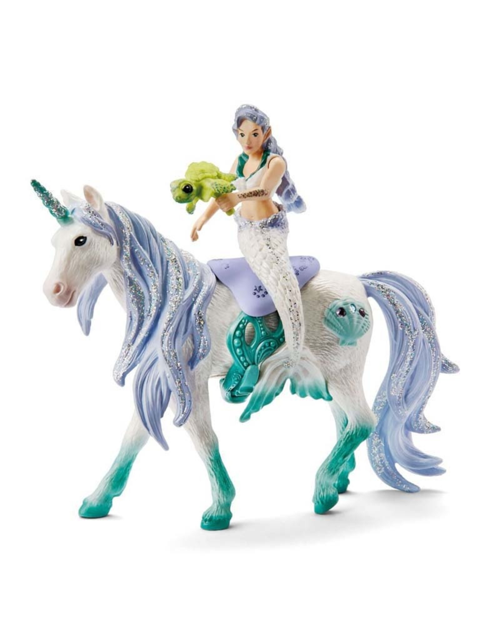 Schleich Mermaid Riding on Sea Unicorn
