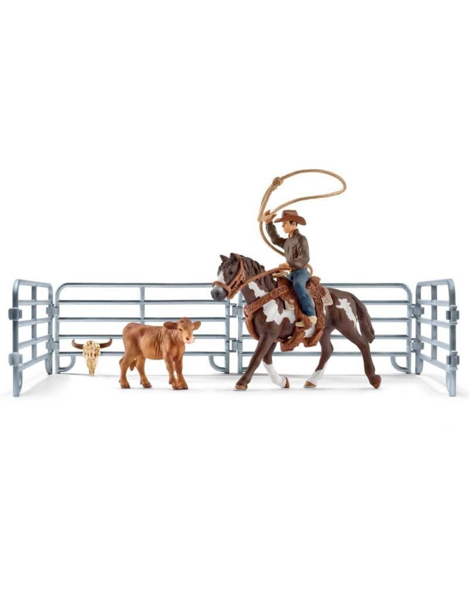 Schleich Schleich Team roping with cowboy