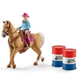 Schleich Barrel Racer w/Cowgirl