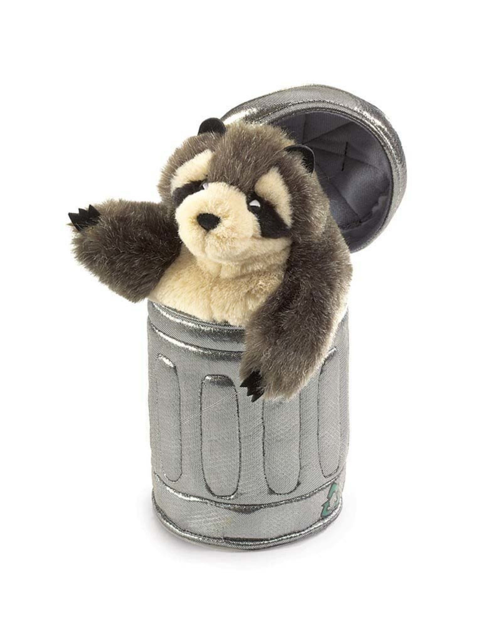 Folkmanis Folkmanis RACCOON IN GARBAGE CAN Puppet