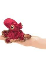 Folkmanis Folkmanis Mini Red Octopus FInger Puppet