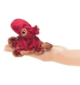 Folkmanis Folkmanis Mini Red Octopus FInger Puppet