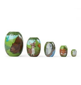 Hearth Song Woodland Scene Stackable Nesting Eggs