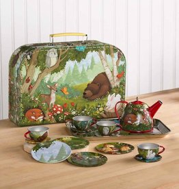 Hearth Song Tin Tea Set Woodland