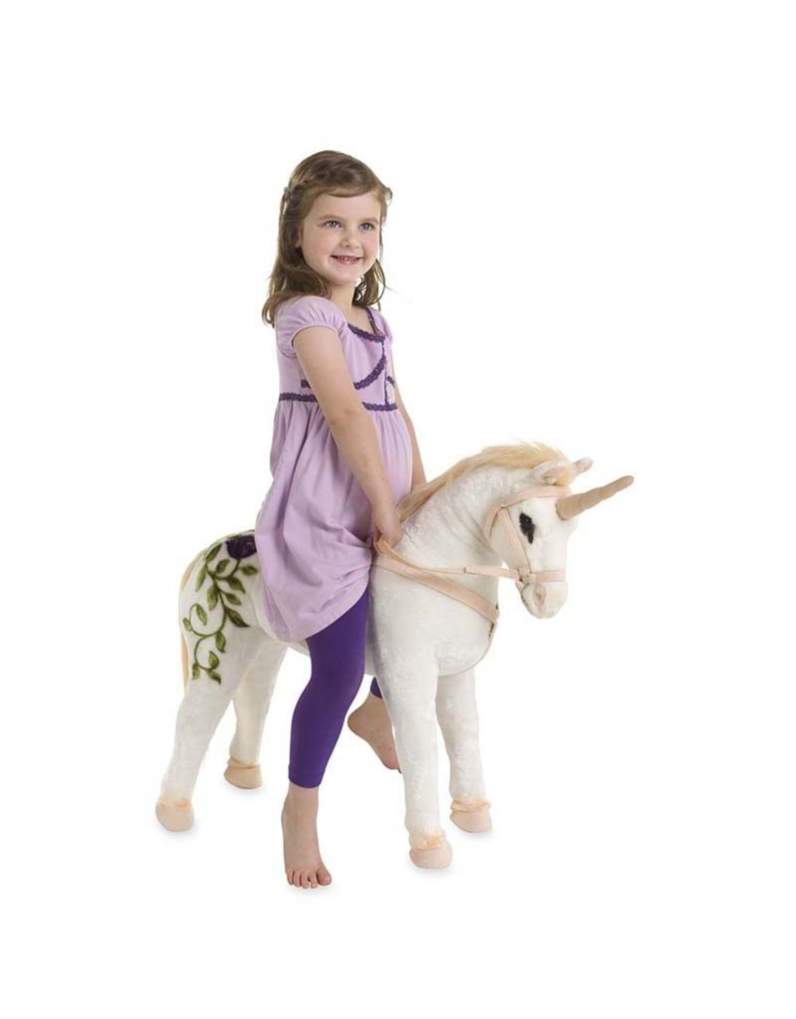 Hearth Song Unicorn Sit On Plush