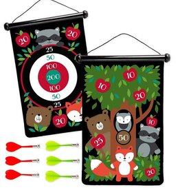 Hearth Song Double Sided Magnetic Dart Board Woodland