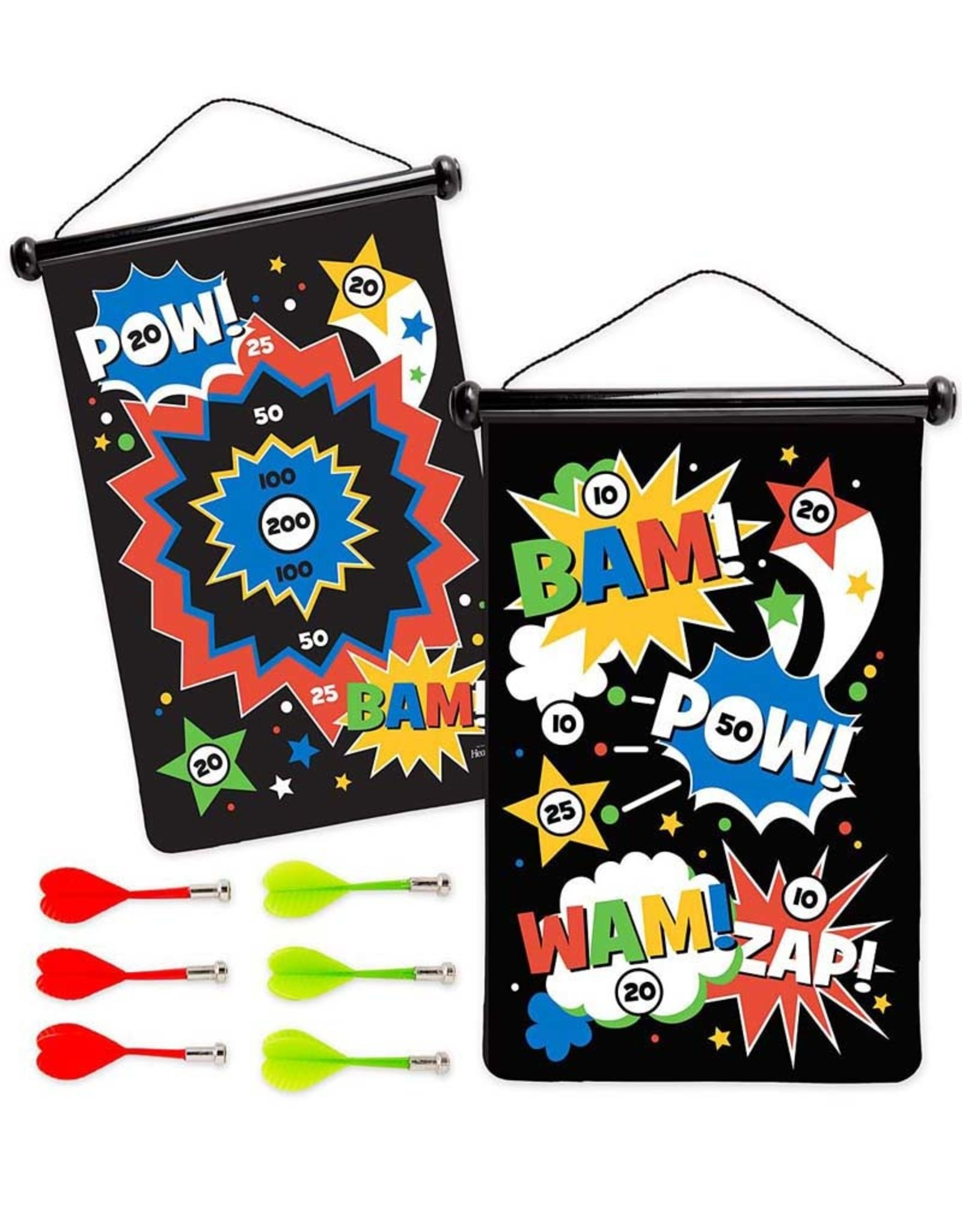 Hearth Song Double Sided Magnetic Dart Board Super Hero