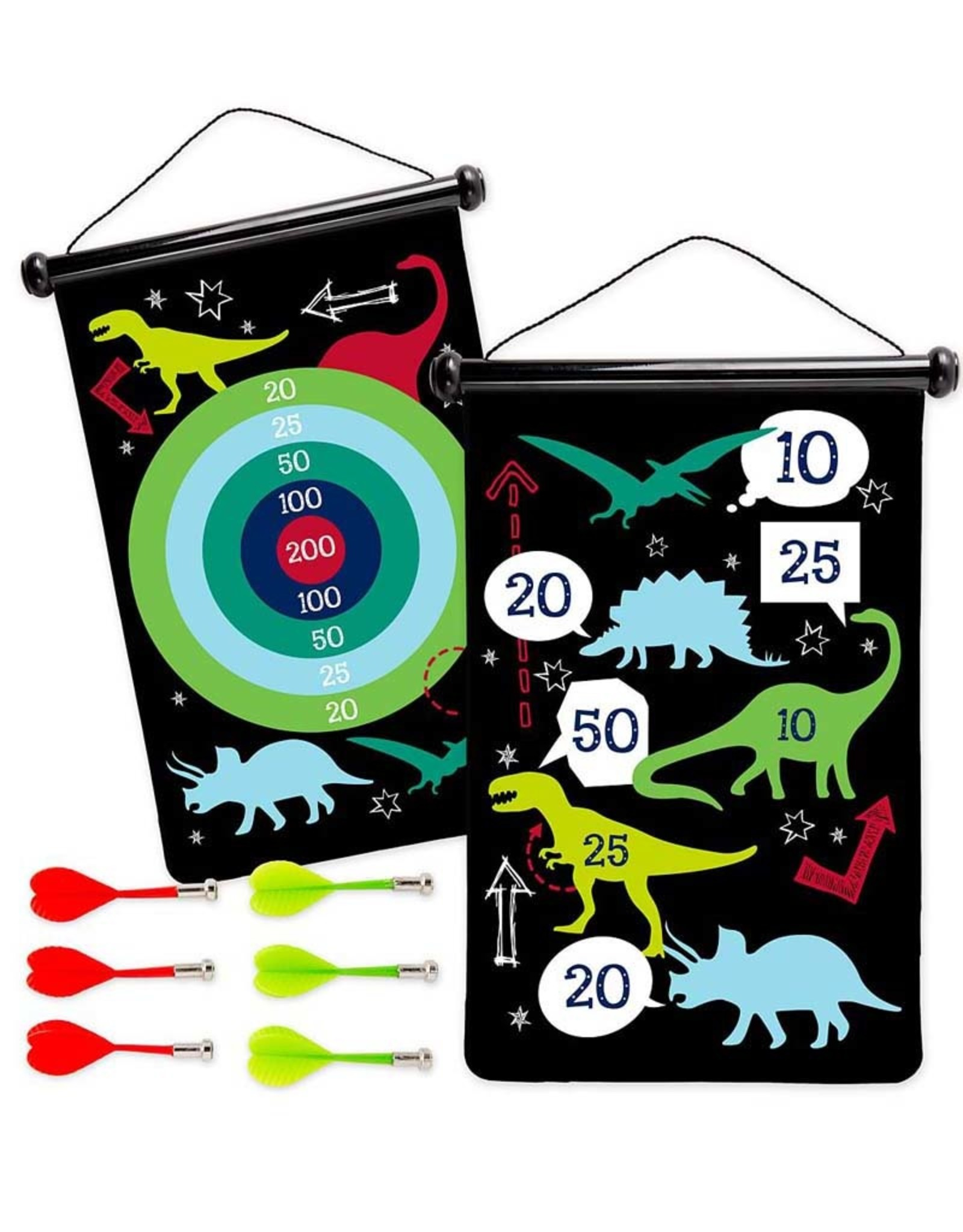 Hearth Song Double Sided Magnetic Dart Board Dinosaur