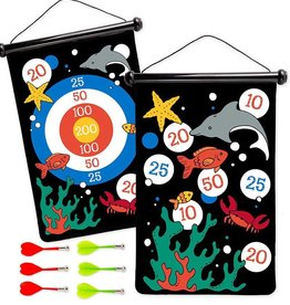 Hearth Song Double Sided Magnetic Dart Board Under The Sea